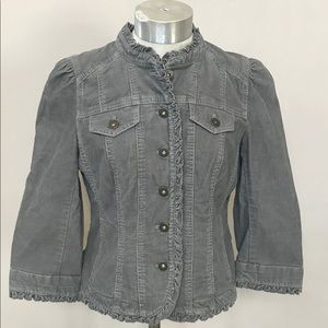 Gray Corduroy LOFT Jacket Size 4